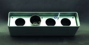 Basic Gefäß 80 cm x 20 cm inklusive Hydro Profi Line System für Hydrokulturen