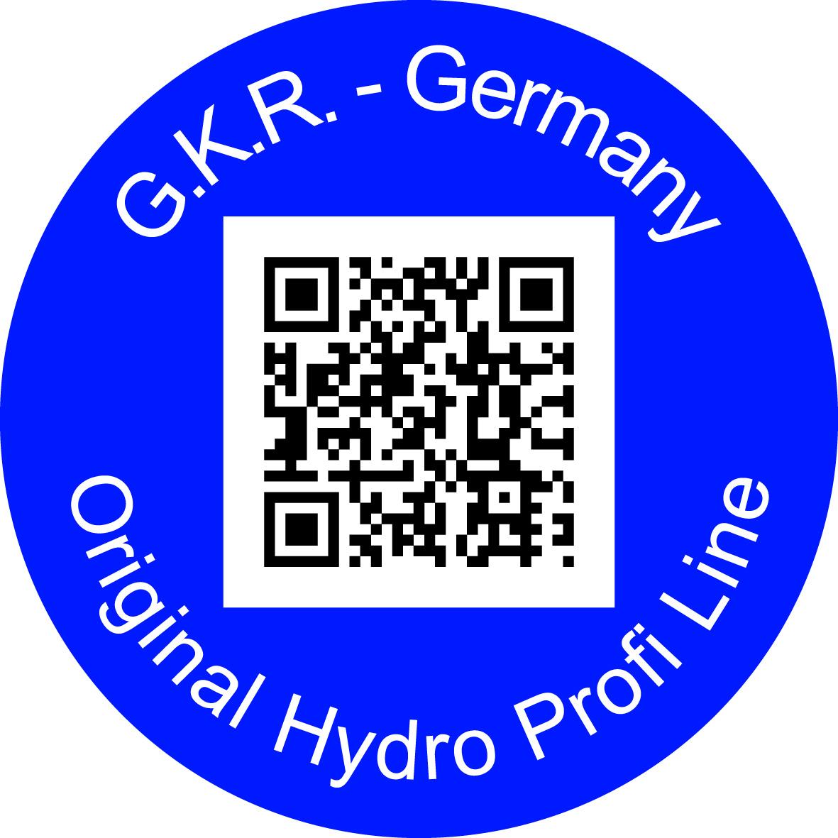 Hydro Profi Line Qualitätssiegel