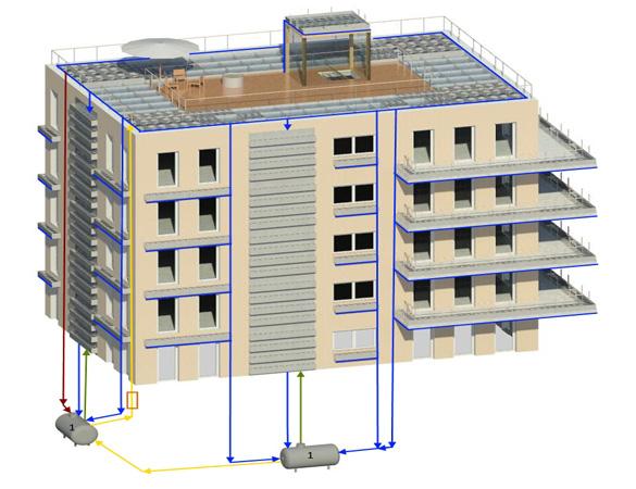 Gebäudebegrünungssystem 1